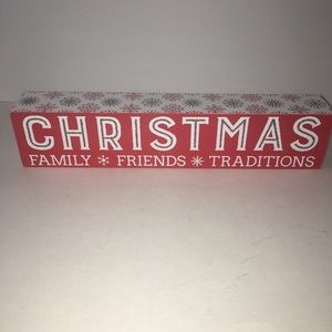 Other - Christmas Family Friends Traditions Red Box Sign